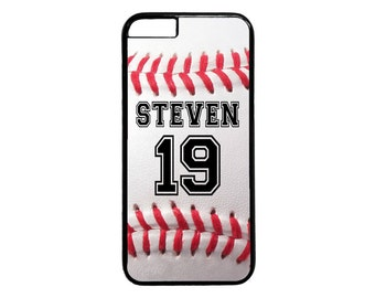 Personalized Number and Name Baseball Case for iPhone 4 4s 5 5s  5C 6 6s 6 Plus 7 7 Plus iPod Touch 4 5 6 case Cover