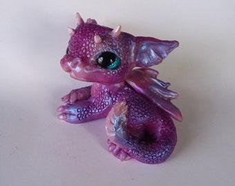 OOAK Hand Sculpted Miniature Baby Dragon, Original Art Doll Sculpture