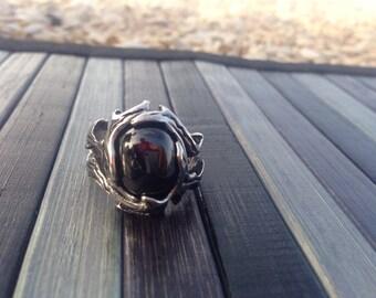 Steel Onyx ring