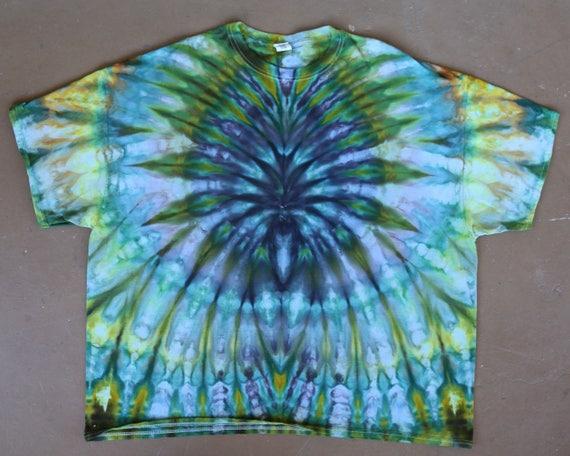 5XL Tie Dye Shirt, 5XL Tie Dye, Hand Dyed Shirt, Festival Shirt, Professional Tie Dye, Boho Chic, Rasta, Plus Size Tie Dye