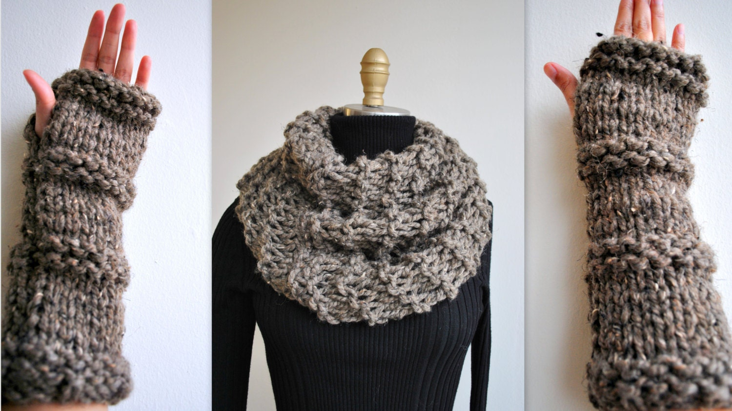 Knitting PATTERN: Outlander Inspired Claire\'s Cowl/Gloves