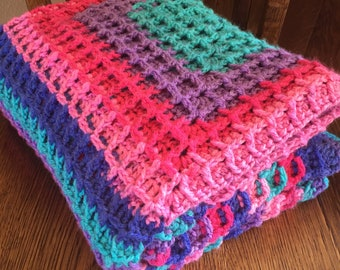 Mixed berry baby blanket