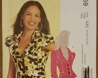 McCall's 5859 - Misses Jacket Pattern - Sizes 4, 6, 8, 10, and 12 - Ladies and Women's Lined Jacket Pattern - UNCUT