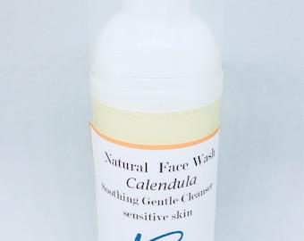 Organic Calendula Foaming Face Wash Rosacea, Psoriasis, Sensitive Skin Types