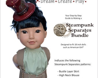 Steampunk Separates Pattern Bundle for 18 inch dolls