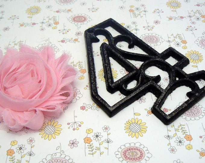 """House Mailbox """" Number 4 Four """" 4.5 Inches Cast Iron Black Shabby Chic Victorian Table Address Accent Number #4"""