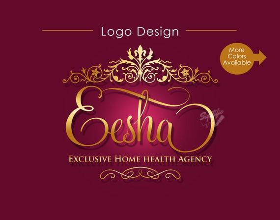 Custom Vintage Logo, Business Logo Design, Vintage Frame Logo, Name Logo, Floral Frame Logo, Hair Extension Logo, Swirly Logo, Ornament Logo
