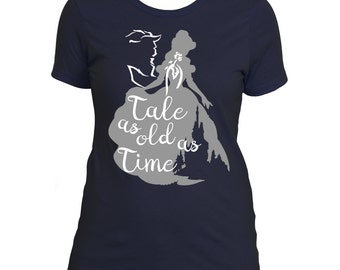The Boyfriend T-Shirt: Tale As Old As Time, Beauty and the Beast, Disney T-shirt