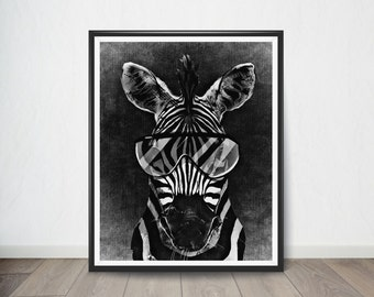 Zebra Art Print, Digital Art, Digital Art Print, Digital Artworks, Digital Print Art, Digital Art Download