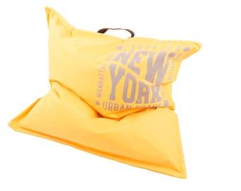 Bean bag yellow big seat cushion Floor Cushion 110cm x 110cm pillow for Kids XXL new Relaxkissen pillow cushion for boy and girl