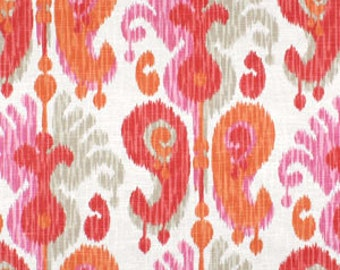 Braemore Journey Fruity Ikat Absract Paisley Fabric