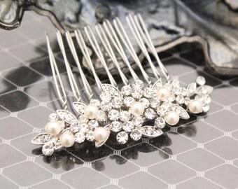 Bridesmaid hair comb Wedding comb,Pearl Bridal hair comb,Vintage inspired Wedding hair comb,Wedding hair accessories,Wedding hair piece,comb