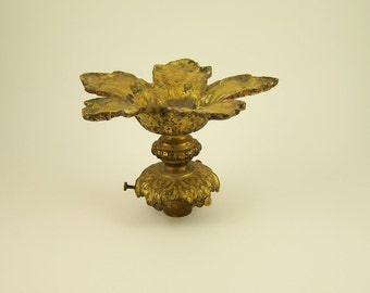 Lustre rosette ceiling with claw for lamp shade gilt bronze | Decorative lighting vintage 1900s Made in France