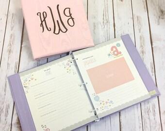 Baby Memory Book in Baby Moiré