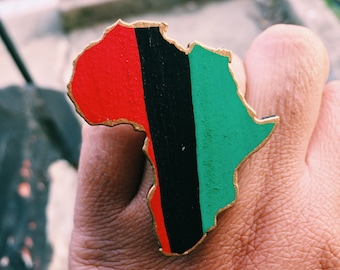 RBG Stripped Wood Africa Adjustable Ring