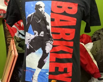 RaRe*1990's Charles Barkley/ nike Air*Vintage swoosh t-shirt NBA 76ers suns