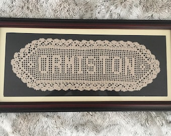 Crocheted Name Plaque