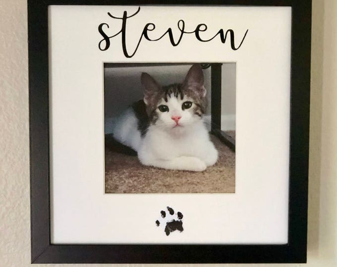 Personalized Pet Picture Frame/ Keepsake