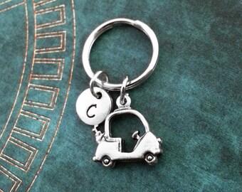 Golf Cart Keychain SMALL Silver Golf Keychain Personalized Keyring Golfer Keychain Golfer Gift Golfing Gift Golf Gift Father's Day Keychain