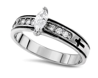"Regent Marquis Ring ""True Love Waits"""