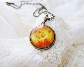 Venus Necklace, Venus, Planet Venus Necklace, Solar System Necklace, Planet Necklace, Aurora, Solar System Jewelry, Space Necklace, Galaxy