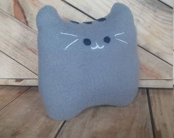 Cat - Cat Stuffed Animal - Cat Plushie - Fat Cat - Cat Pillow - Gray Cat -