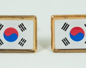 South Korean Flag Cufflinks