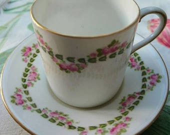 Vintage 1893 Pair of Coffee Cup and Saucers by George Jones & Sons  Interior Design BoutiqueByDanielle
