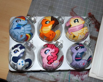 ONE (1) My Little Pony Themed Ornament and Glassware