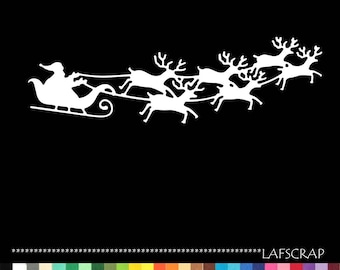 Santa Claus sleigh reindeer embellishment die cut scrapbooking cutting deco scrap album