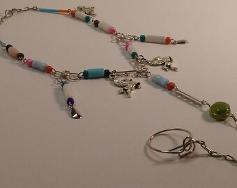 Charm Anklet with Toe Ring