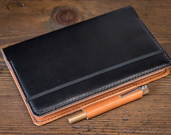 """Cover for the Panda Planner Daily Classic - 5.25"""" x 8.25"""" - black/tan"""