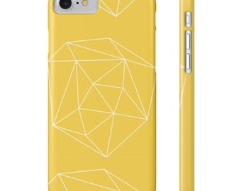 Geometric iPhone Case, Gift for Her, Stocking Stuffer, Geometric Yellow Phone Case, iPhone 8 Case, Minimalist Phone Case, iPhone Accessories