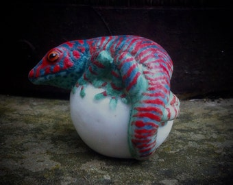 Day Gecko, lizard, reptile, gecko sculpture, gecko reptile sculture