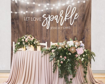 Wood Backdrop, Custom Tapestry, Rustic Wedding, Dessert Table, Engagement Tapestry, Wedding Backdrop, Wedding Wall // W-G22-TP MAR1 AA3