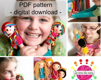 Crochet pattern for a finger puppets DIGITAL DOWNLOAD ONLY