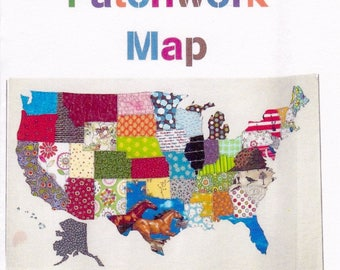 USA Patchwork Map, Quilts By Elena, DIY Quilt Pattern
