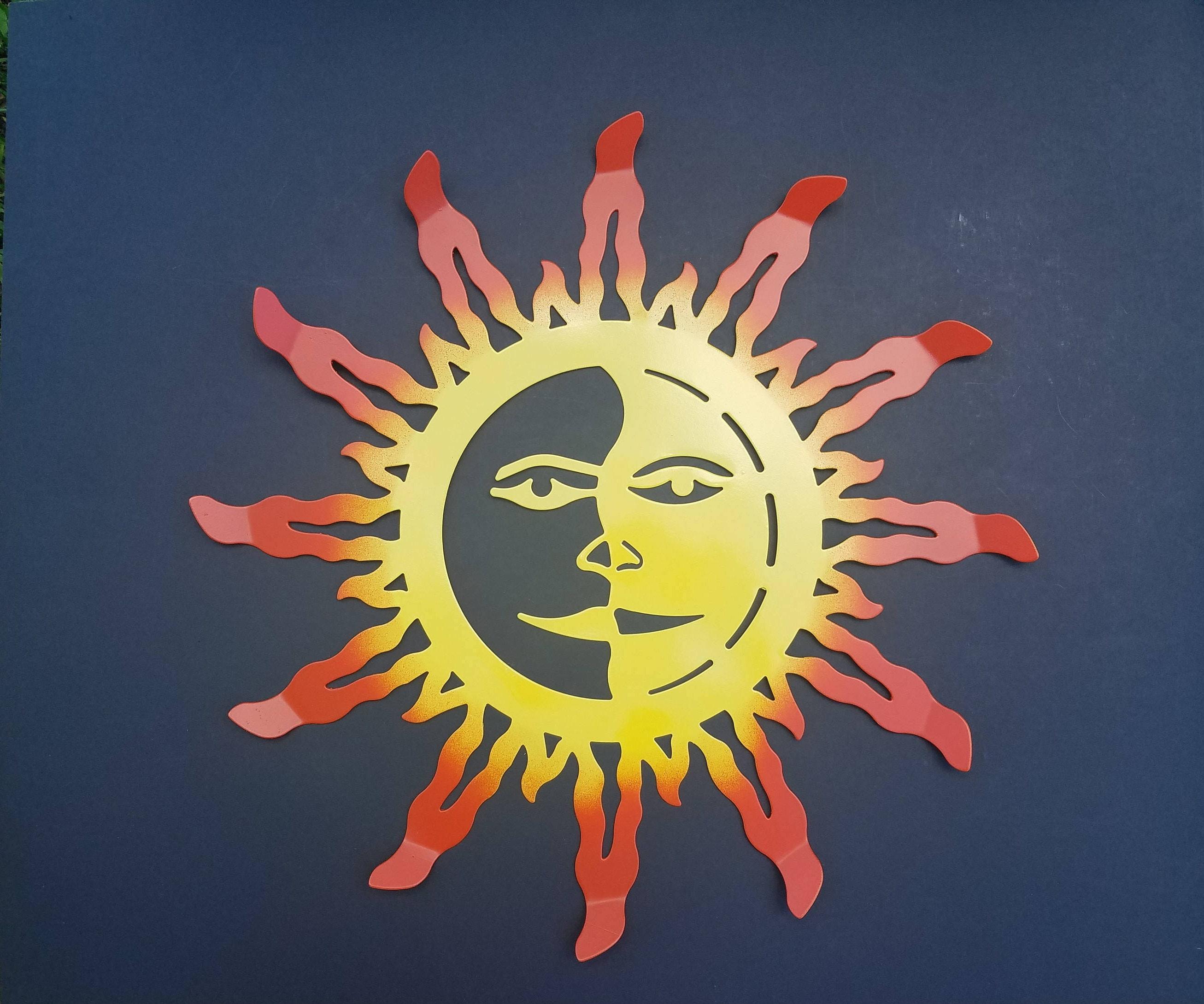 Sun Decor / Metal Wall Decor / Garden Decor / Metal Sun Decor/