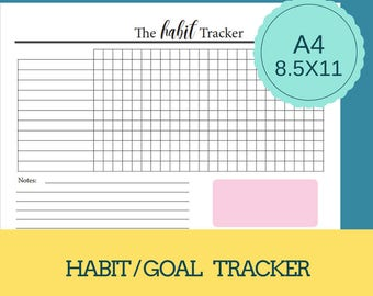 The Habit Tracker.  Goal Tracker.  Monthly Habit Tracker.
