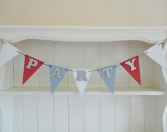 PARTY Wooden Bunting, Birthday, Anniversary, Celebrations, Home Decor, Sign