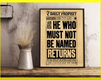 Harry Potter prophète quotidien, Journal de Harry Potter, Harry Potter Flyer, celui qui ne doit pas être nommé, Journal de sorciers, Lord Voldemort