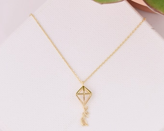 Kappa Alpha Theta Kite Necklace / Theta Sorority Necklace / Kappa Alpha Theta Necklace / KAO Kite Necklace / Sorority Jewelry / Big Little