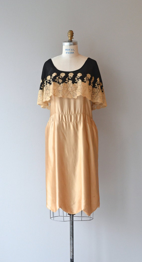 dress 1920s Dorée dress Fleur silk IfOZ8ExEqw