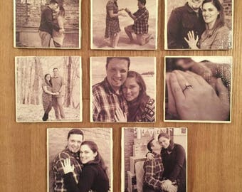 Custom  Photo Tile Coaster Set of 6