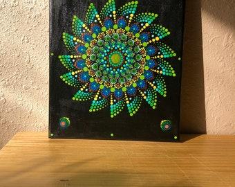 Mandala canvas, wall decore, wall art,