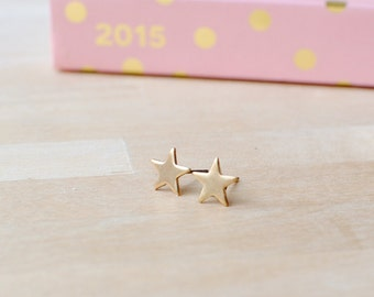 Little Star Earrings | Tiny Gold Earrings | Nickel Free Earrings | Delicate Gold Jewellery