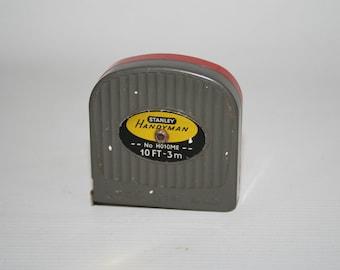 Vintage Stanley Handyman Mesuring Tape 3m 10ft Retro Crafts Hand Tool Retro