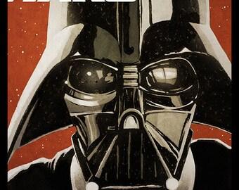 STAR WARS Darth Vader movie poster full colour art print