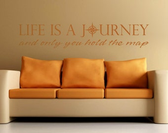 Life is a Journey Inspirational Vinyl Wall Quote