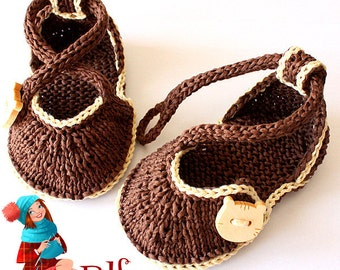 Knitting Pattern (PDF file)  Kitten Baby Shoes (sizes 0-6/6-12 months)